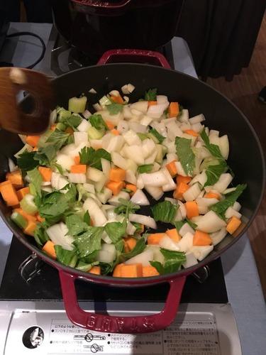 ブリと春野菜のトマト煮