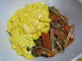 根菜ふわ卵丼2