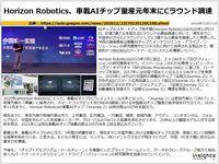 Horizon Robotics、車載AIチップ量産元年末にCラウンド調達のキャプチャー