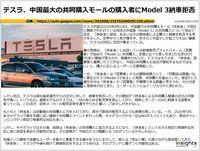 テスラ、中国最大の共同購入モール経由の購入者に納車拒否発表のキャプチャー