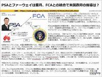 PSAとファーウェイは蜜月、FCAとの統合で米国政府の指導は?のキャプチャー