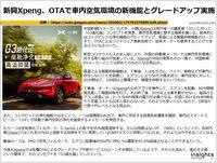 新興Xpeng、OTAで車内空気環境の新機能とグレードアップ実施のキャプチャー