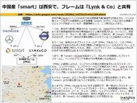 中国産「smart」は西安で、フレームは「Lynk & Co」と共有のキャプチャー