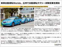 新興自動運転Weride、広州で自動運転タクシー試験営業を開始のキャプチャー