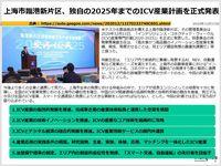 上海市臨港新片区、独自の2025年までのICV産業計画を正式発表のキャプチャー
