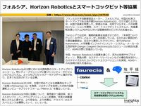 フォルシア、Horizon Roboticsとスマートコックピット等協業のキャプチャー