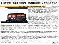 トヨタ中国、海南省に移動サービス会社設立、レクサス等も投入のキャプチャー