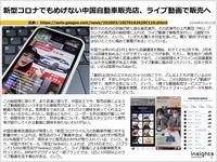 新型コロナでもめげない中国自動車販売店、ライブ動画で販売へのキャプチャー
