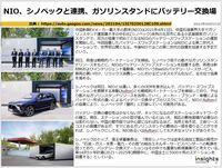NIO、シノペックと連携、ガソリンスタンドにバッテリー交換場のキャプチャー