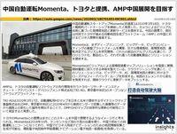 中国自動運転Momenta、トヨタと提携、AMP中国展開を目指すのキャプチャー