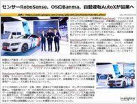 センサーRoboSense、OSのBanma、自動運転AutoXが協業へのキャプチャー