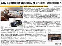 丸紅、BYTONの資金調達に参画、M-Byte量産・納車に拍車か?のキャプチャー