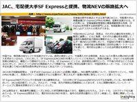 JAC、宅配便大手SF Expressと提携、物流NEVの販路拡大へのキャプチャー