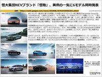恒大集団NEVブランド「恒馳」、異例の一気に6モデル同時発表のキャプチャー