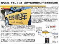 北汽集団、中国レンタカー最大手の神州租車21%株式取得の意向のキャプチャー