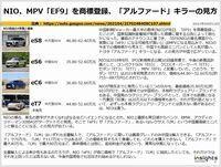 NIO、MPV「EF9」を商標登録、「アルファード」キラーの見方のキャプチャー
