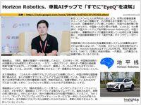 "Horizon Robotics、車載AIチップで「すでに""EyeQ""を凌駕」のキャプチャー"
