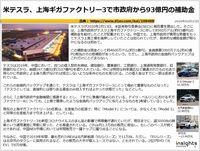 米テスラ、上海ギガファクトリー3で市政府から93億円の補助金のキャプチャー