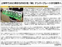上海市で2023年からPHEVを「緑」ナンバープレートから除外へのキャプチャー