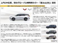 上汽GM五菱、初のグローバル戦略車カラー「富士山(白)」設定のキャプチャー