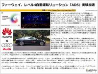 ファーウェイ、レベル4自動運転リューション「ADS」実験加速のキャプチャー