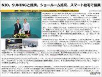 NIO、SUNINGと提携、ショールーム拡充、スマート住宅で協業のキャプチャー