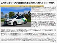 広州で日産リーフ2を自動運転車に改装して無人タクシー事業へのキャプチャー