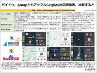バイドゥ、AmapともアップルCarplay対応版発表、比較するとのキャプチャー