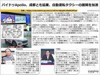 バイドゥApollo、成都とも協業、自動運転タクシーの展開を加速のキャプチャー