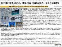 NIO累計販売10万台、李斌CEO「BBAが競合、テスラは戦友」のキャプチャー