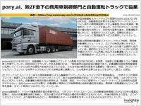 pony.ai、独ZF傘下の商用車制御部門と自動運転トラックで協業のキャプチャー