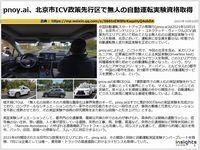 pnoy.ai、北京市ICV政策先行区で無人の自動運転実験資格取得のキャプチャー