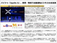 バイドゥ「Apollo X」、商用・物流で自動運転ビジネス化を加速のキャプチャー