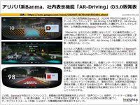 アリババ系Banma、車内表示機能「AR-Driving」の3.0版発表のキャプチャー