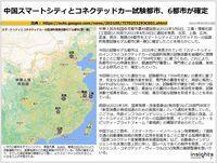 中国スマートシティとコネクテッドカー試験都市、6都市が確定のキャプチャー