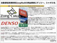 自動運転関連新興ZongMuのD資金調達にデンソー、シャオミものキャプチャー