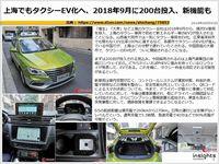 上海でもタクシーEV化へ、2018年9月に200台投入、新機能ものキャプチャー