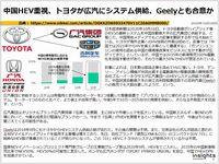 中国HEV重視、トヨタが広汽にシステム供給、Geelyとも合意かのキャプチャー