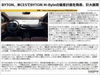 BYTON、米CESでBYTON M-Byteの量産計画を発表、巨大画面のキャプチャー