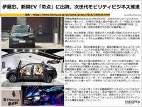 伊藤忠、新興EV「奇点」に出資、次世代モビリティビジネス推進のキャプチャー