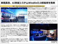 東風集団、AI車載システムWindlinl3.0搭載車を発表のキャプチャー