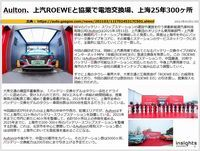 Aulton、上汽ROEWEと協業で電池交換場、上海25年300ヶ所のキャプチャー
