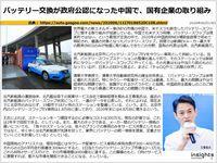 バッテリー交換が政府公認になった中国で、国有企業の取り組みのキャプチャー