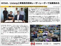 HESAI、Lixiangと車載混合固体レーザーレーダーで協業進めるのキャプチャー