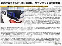 電池世界大手CATLは日本進出、パナソニックは中国挑戦のキャプチャー