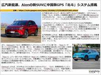 広汽新能源、Aionの新SUVに中国版GPS「北斗」システム搭載のキャプチャー