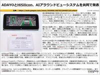 ADAYOとHiSilicon、AIアラウンドビューシステムを共同で発表のキャプチャー
