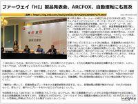 ファーウェイ「HI」製品発表会、ARCFOX、自動運転にも言及のキャプチャー