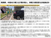 商務部、中国NEV購入は7割が個人、車購入構造変化の転換点かのキャプチャー