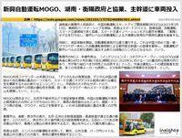 新興自動運転MOGO、湖南・衡陽政府と協業、主幹道に車両投入のキャプチャー